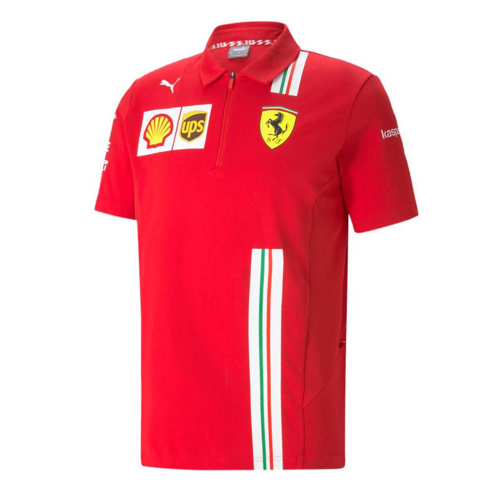 New! 2021 Scuderia Ferrari F1 Team Mens Polo Shirt Tee Official Puma Merchandise