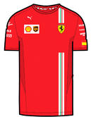 New! 2021 Scuderia Ferrari Carlos Sainz Mens T-Shirt Official Puma Merchandise