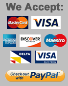 We Accept VISA, MASTERCARD, PAYPAL etc.