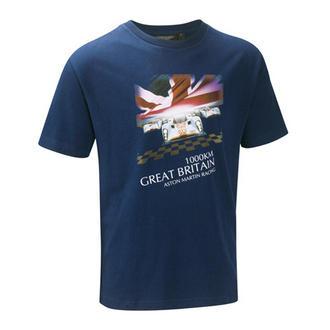 ASTON MARTIN RACING LIFESTYLE T-SHIRT 1000km GREAT BRITAIN THEMED T-SHIRT BLUE