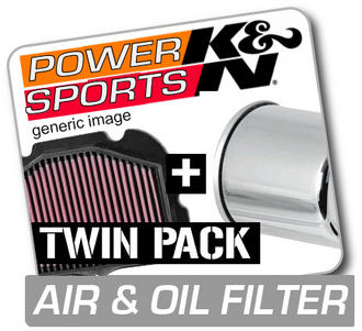 K&N Air & Chrome Oil Filter YAMAHA YFM660 Grizzly 660 2002-2003  KN Twin Pack! Preview