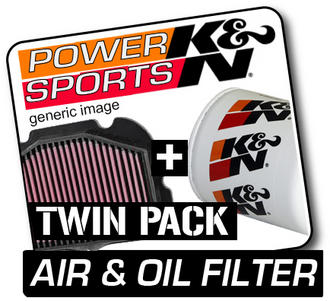 YAMAHA YFM350 Grizzly Auto 4x4 IRS 346 2007-2009 K&N KN Air & Oil Filters ATV Preview