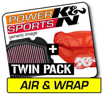 K&N Air Filter & Pre-Charger Wrap KYMCO MXU300 2006-2009  KY-2504 + SU-2504PK Preview