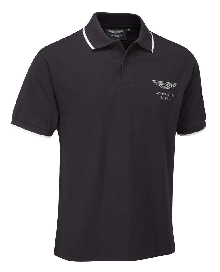 sale aston martin racing lifestyle polo shirt black 100. Black Bedroom Furniture Sets. Home Design Ideas
