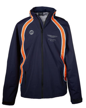 SALE! ASTON MARTIN RACING GULF LE MANS TEAM JACKET NAVY BLUE 100% Nylon NEW!