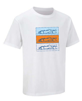 SALE! ASTON MARTIN RACING LE MANS RACE CAR T-SHIRT 100% Cotton White NEW!