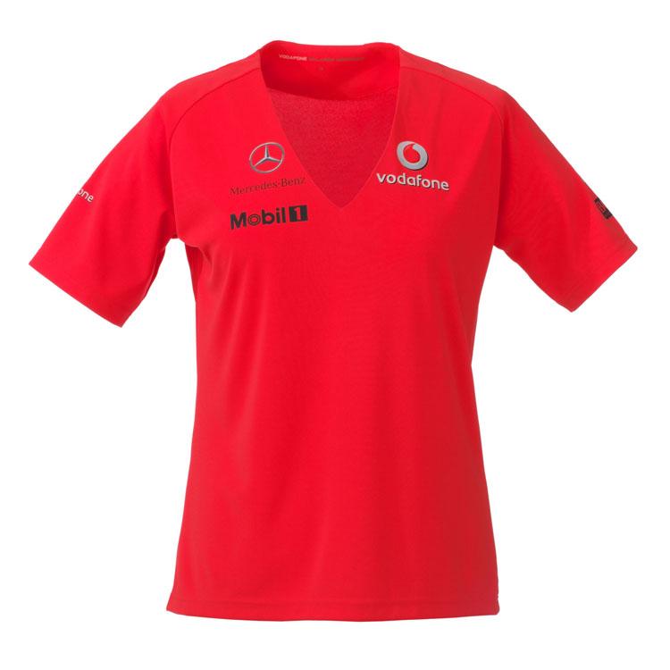 Sale vodafone mclaren mercedes f1 team female rocket red for Mercedes benz t shirts sale