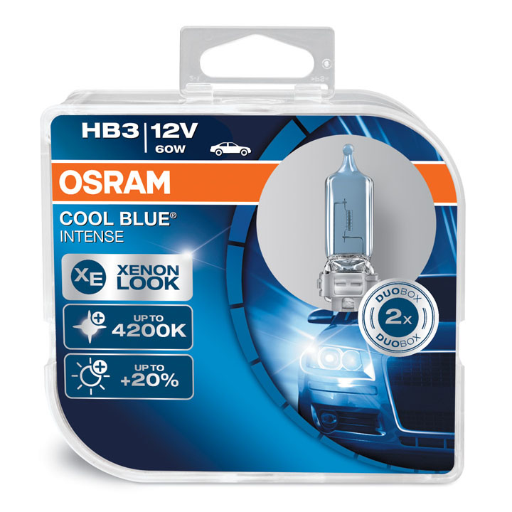 Osram HB3 (9005) 4200K Cool Blue Intense Xenon Look Bulbs 12V 60W 9005CBI-HCB