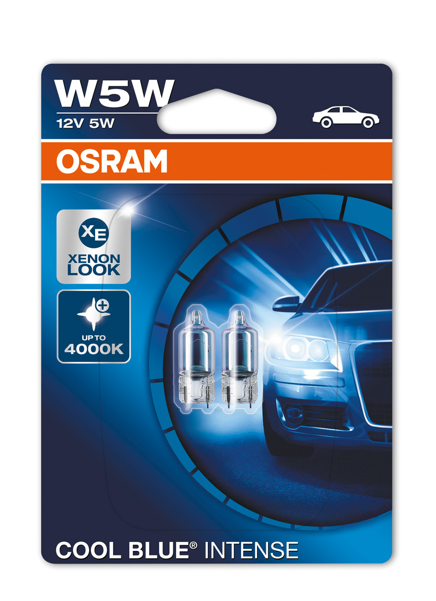 osram w5w 501 cool blue intense 4000k sidelight bulbs xenon look 2825hcbi 02b ebay. Black Bedroom Furniture Sets. Home Design Ideas