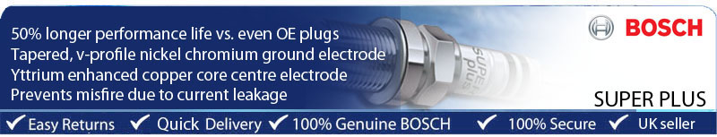 19 Si adatta NISSAN VANETTE Van 1.8i 88BHP 99-02 BOSCH ITTRIO Super Plus Spark Plug
