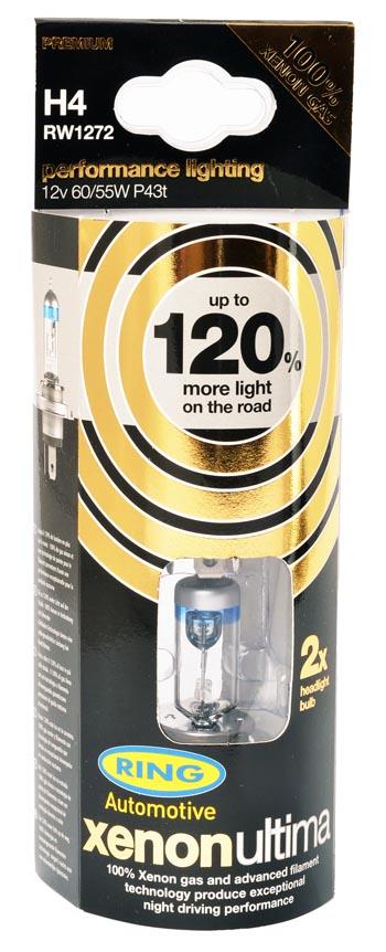 Xenon H1 RW1248 x 2 Bulbs 448 Ring Ultima Performance Lighting 120/% More Light