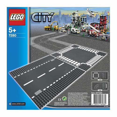 7280 LEGO Straight & Crossroad CITY SUPPLEMENTARY