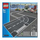 7281 LEGO T-Junction & Curves CITY SUPPLEMENTARY