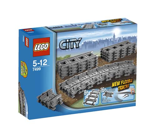 7499 LEGO Flexible Tracks CITY TRAIN