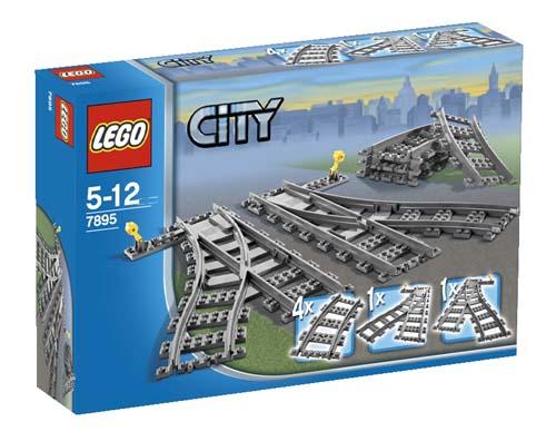 7895 LEGO Switch Tracks CITY TRAIN