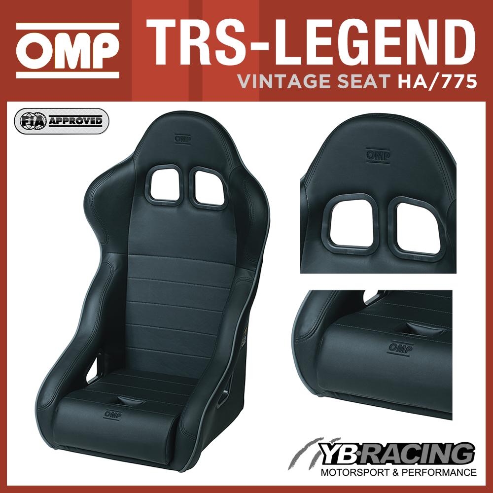 N OMP TRS-LEGEND VINTAGE CLASSIC CAR RACE SEAT FAUX LEATHER FIA ...