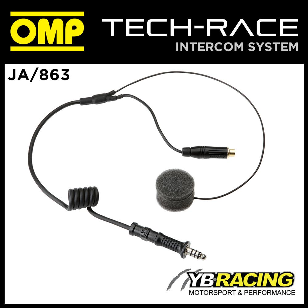 JA/863 OMP RACING IN EAR INTERCOM KIT FOR FULL FACE HELMET OMP JA/856  TECH-RACE