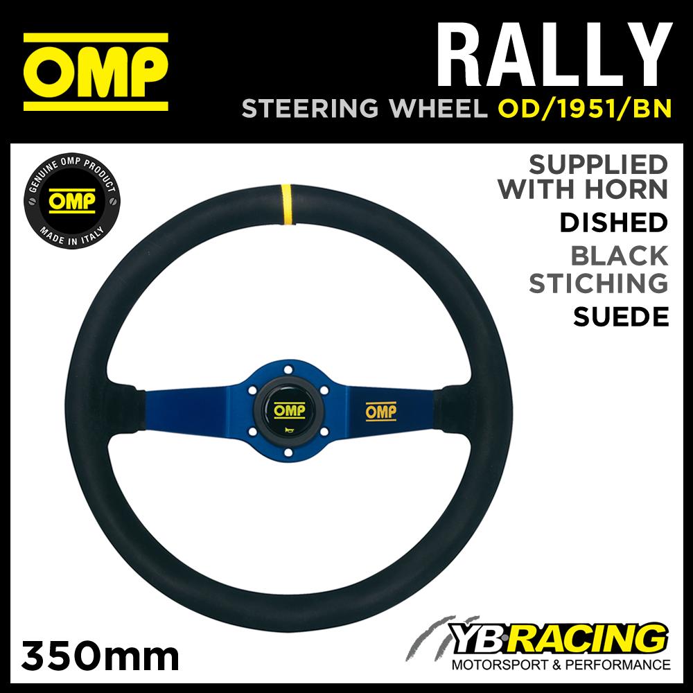 od//1951//BN Omp Rally volante in pelle scamosciata 350/mm blu anodizzato raggi