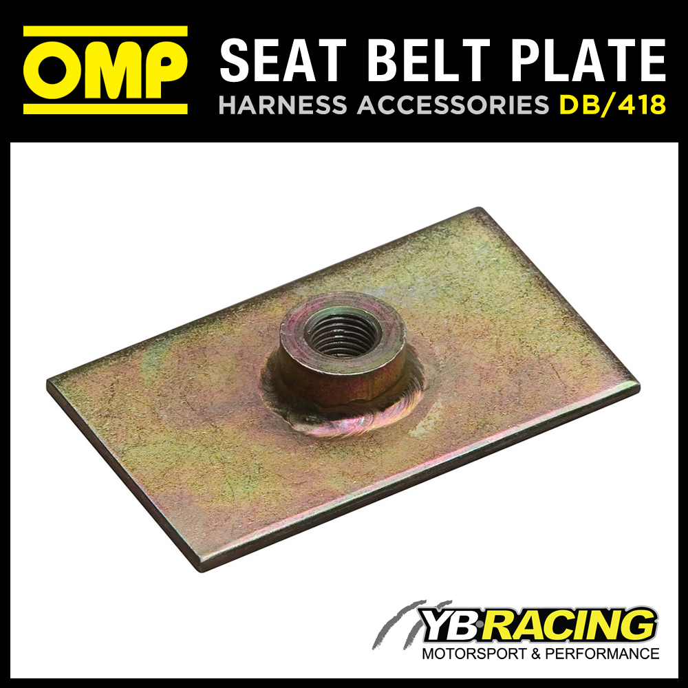"""DB/418 OMP RACING HARNESS PLATE & THREADED NUT 7/16"""" - FIA APPROVED MOTORSPORT"""