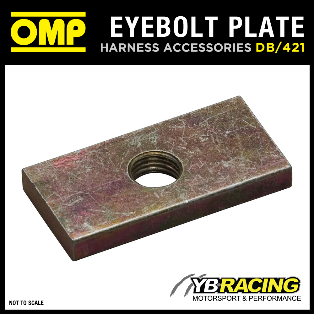 DB/421 OMP RACING HARNESS REINFORCED THREAD PLATE FOR EYEBOLT ATTACHMENTS