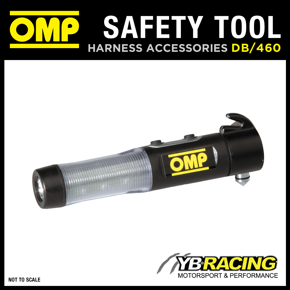 DB/460 OMP RACING RALLY SAFETY EMERGENCY TOOL (HAMMER/LIGHT/MAGNET/CUTTER) OMP