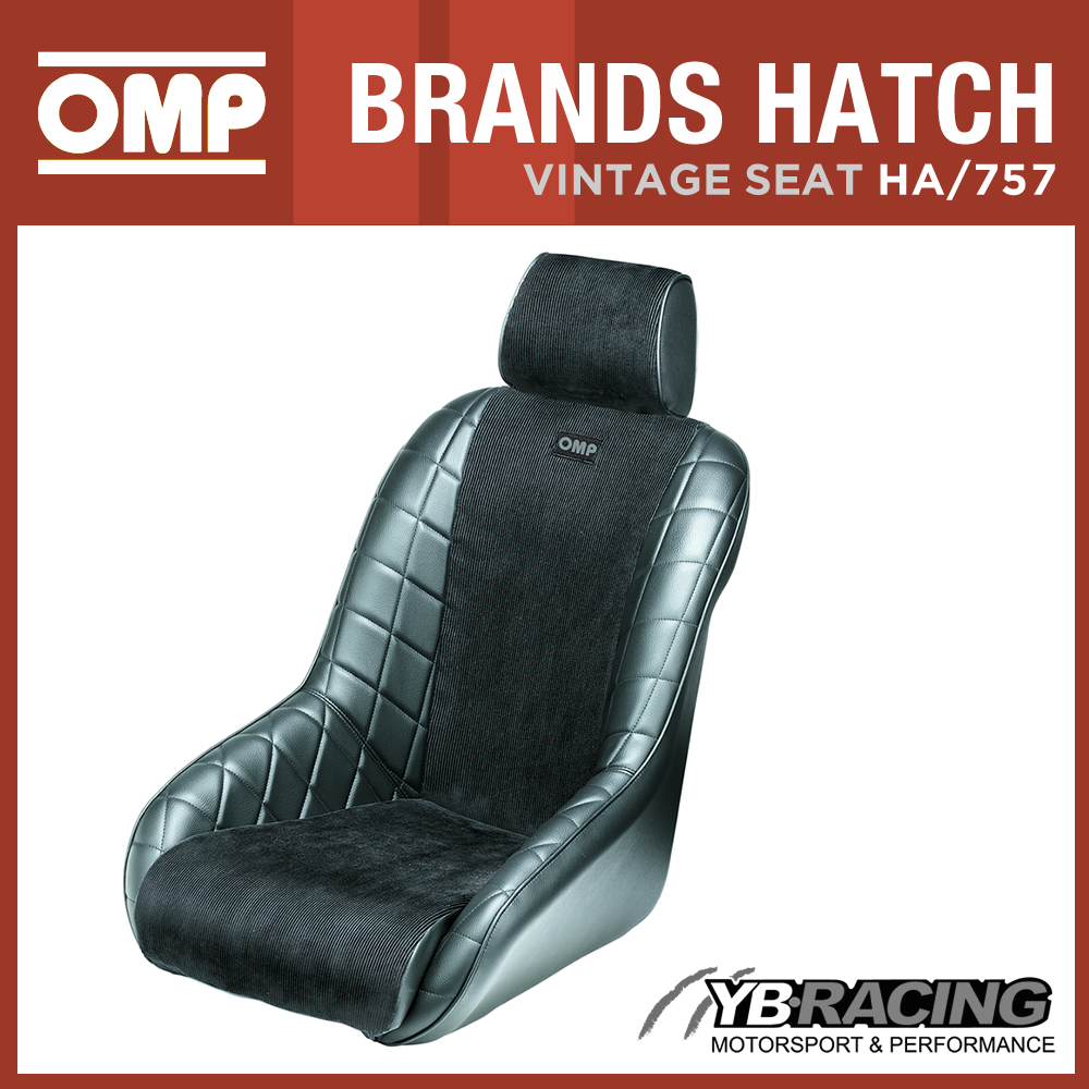 HA 757 N OMP BRANDS HATCH VINTAGE CLASSIC RACE SEAT 1960s STYLE FAUX LEATHER