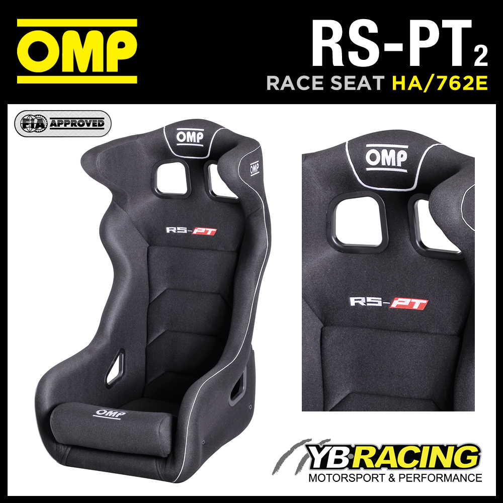 "HA/762E OMP ""RS-PT 2"" GT TOURING CAR BUCKET SEAT FIBREGLASS SHELL BLACK VELOUR"