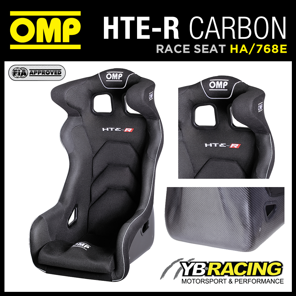 "HA/768E OMP CARBON FIBRE RACING SEAT ""HTE-R CARBON"" ULTRA LIGHTWEIGHT RACE SEAT"