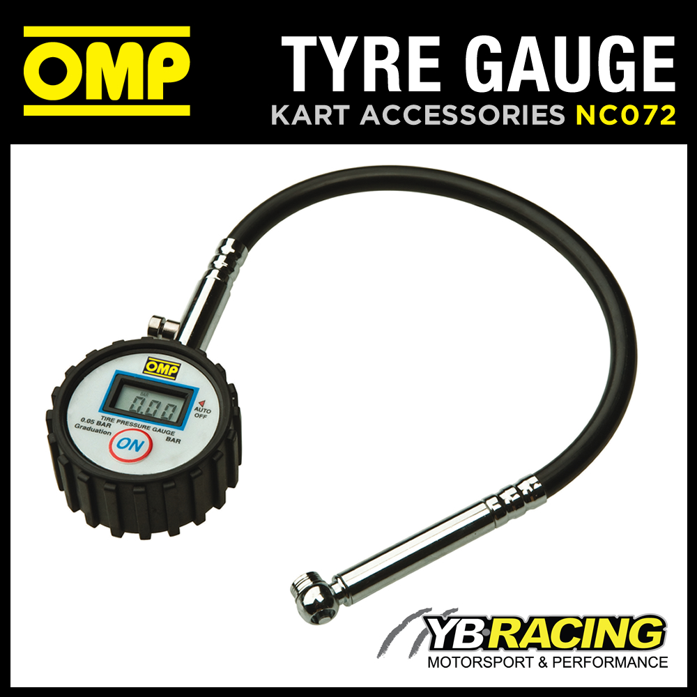 NC/072 OMP KARTING DIGITAL TYRE PRESSURE GAUGE FOR 0.6 CLASS KART TYRES
