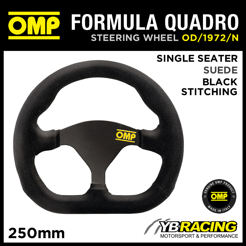 OD/1972/N OMP FORMULA QUADRO RACING STEERING WHEEL 250x230mm SINGLE SEATER RACE