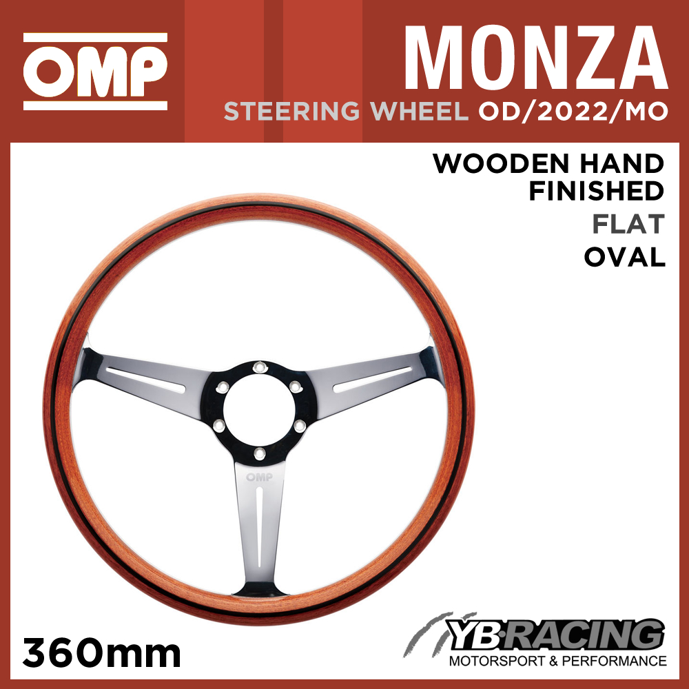 OD/2022/MO OMP MONZA WOODEN HAND-MADE STEERING WHEEL CLASSIC CAR VINTAGE
