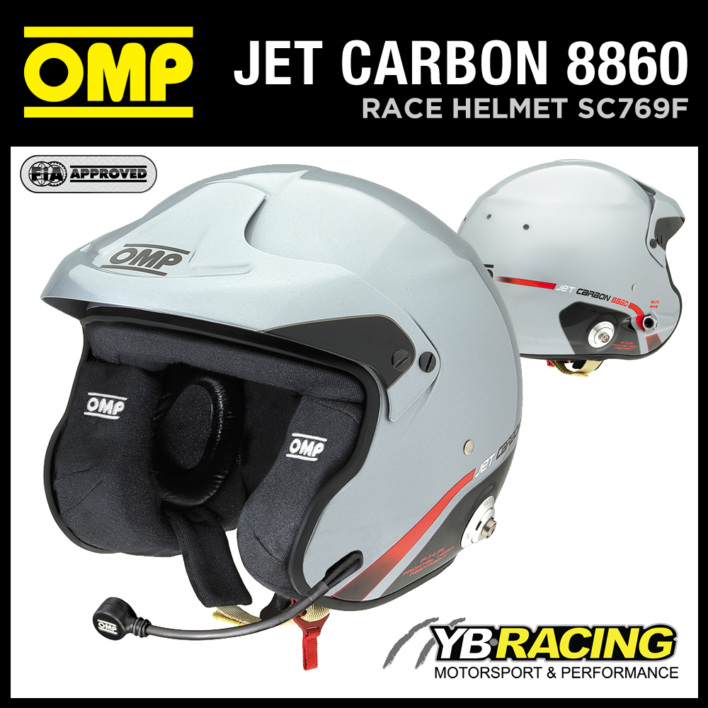 SC769F OMP JET CARBON FIBRE 8860 HELMET OPEN FACE HELMET WITH INTERCOM SOUND OMP