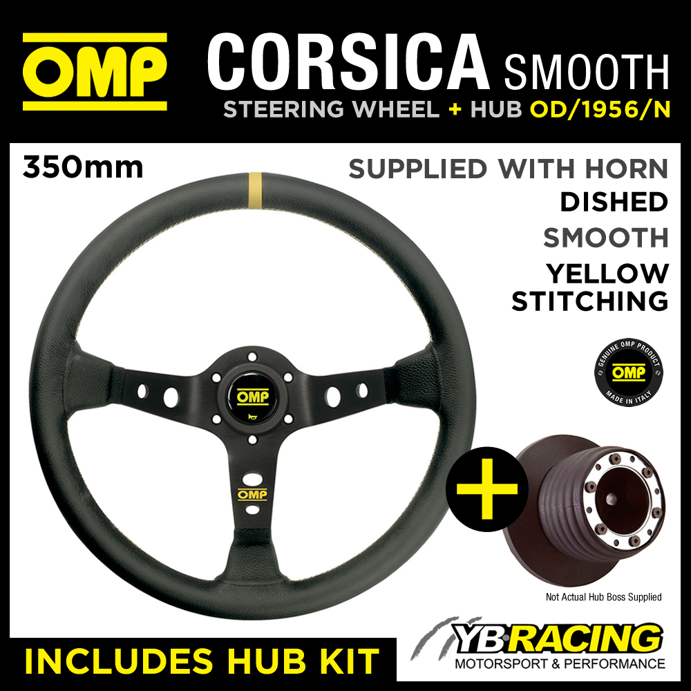 BMW 3 SERIES E36 A-BAG 90-94 OMP CORSICA 350mm SMOOTH LEATHER STEERING WHEEL