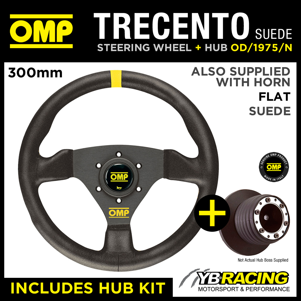 BMW 6 SERIES ALL 87-89 OMP TRECENTO 300mm SUEDE LEATHER STEERING WHEEL & HUB KIT