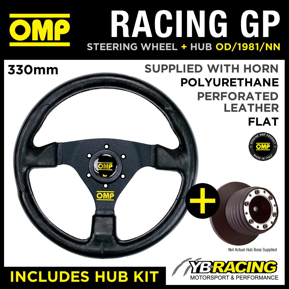 OMP RACING GP 330mm STEERING WHEEL & HUB for VW GOLF MK3 GTi (25mm) 91-98