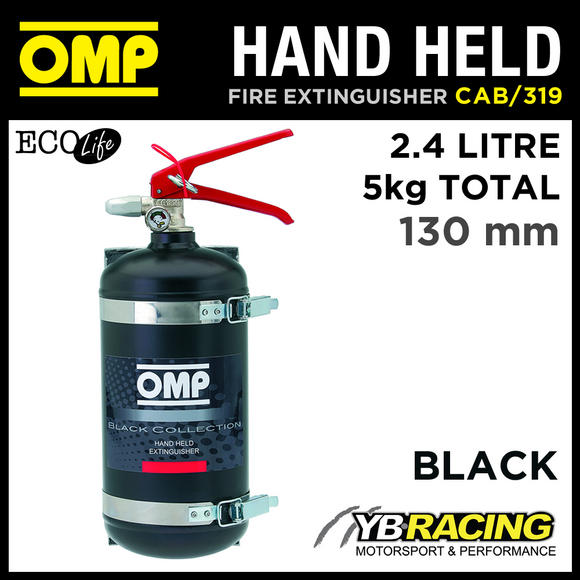 CAB/319 OMP RACING HAND HELD FIRE EXTINGUISHER 2.4L ECOLIFE 130mm DIAMETER 5KG