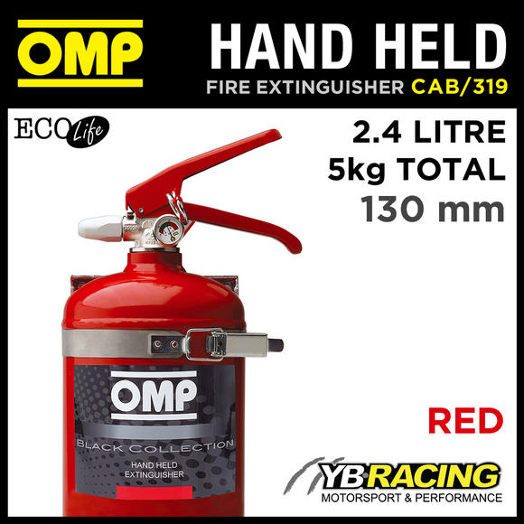 CAB/319/R OMP RED HAND HELD FIRE EXTINGUISHER 2.4L ECOLIFE 130mm DIAMETER 5KG