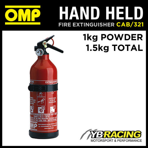CAB/321 OMP HAND HELD ALUMINIUM FIRE EXTINGUISHER RED (EN3) 1kg Powder