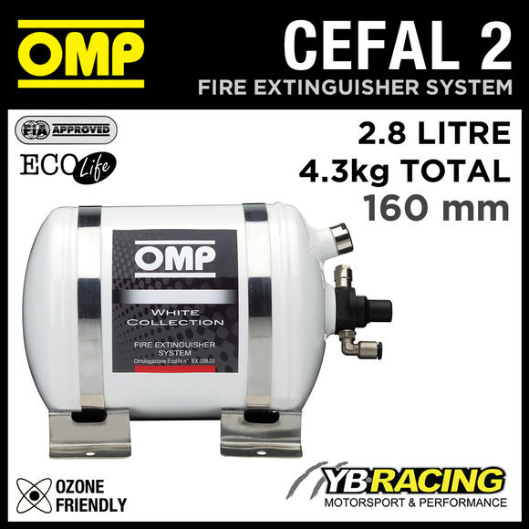 CEFAL2 OMP RACING FIRE EXTINGUISHER SYSTEM ELECTRICALLY ACTIVATED 245mm 2.8litre