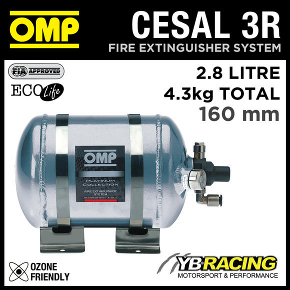 CESAL3R OMP PLATINUM FIRE EXTINGUISHER SYSTEM MADE SPECIFICALLY FOR RALLY CARS