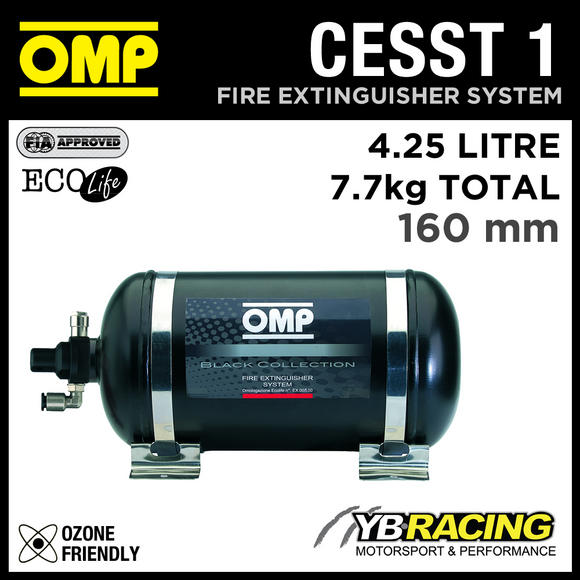 CESST1 OMP RACING FIRE EXTINGUISHER KIT 4.25L ECOLIFE 7.7kgs 330mm for RACE CARS