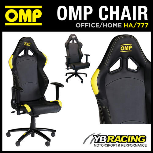 NEW! HA/777 OMP RACING RALLY LEATHER OFFICE CHAIR ON WHEELS! HOME/OFFICE/WORK