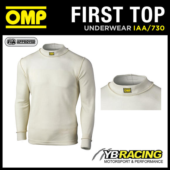IAA/730 OMP RACING FIREPROOF LONG SLEEVE CREW NECK TOP TO WEAR UNDER RACE SUIT