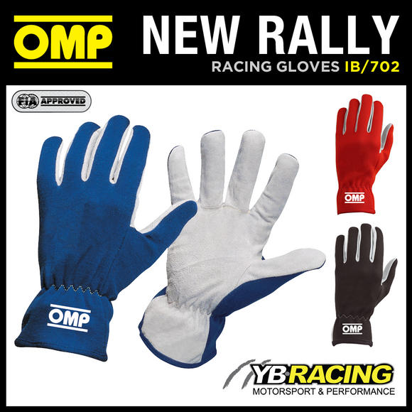 IB/702 OMP NEW RALLY SHORT SUEDE LEATHER DRIVING GLOVES - IN 3 COLOURS!