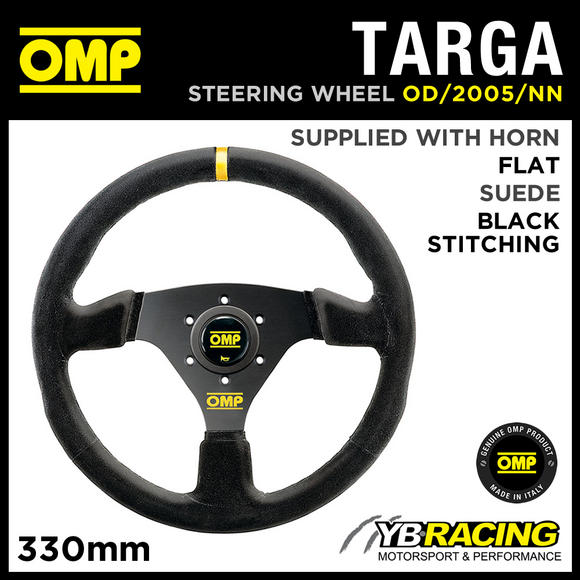 OD/2005/NN OMP TARGA STEERING WHEEL SUEDE LEATHER 330mm - OMP BEST SELLER!