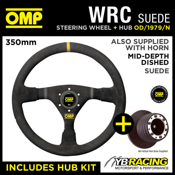 RENAULT CLIO MK2 ALL 98-06 OMP WRC 350mm MID-DEPTH STEERING WHEEL & HUB KIT
