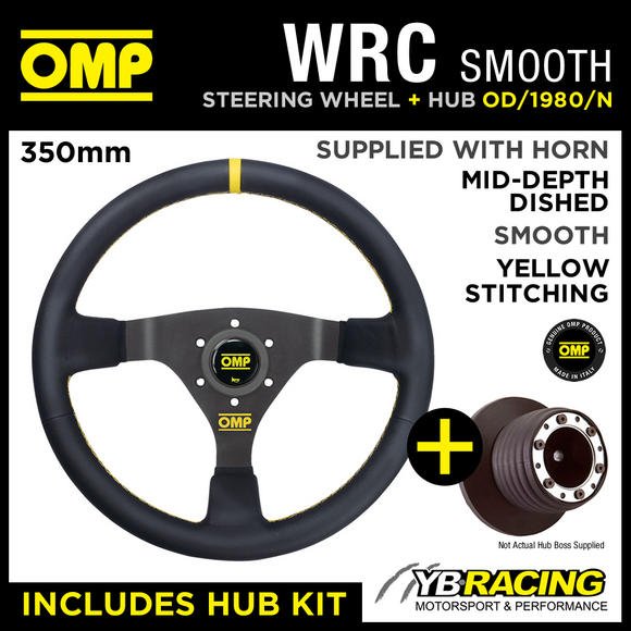 FORD FIESTA ST150 04-08 OMP WRC 350mm SMOOTH LEATHER STEERING WHEEL & HUB KIT!