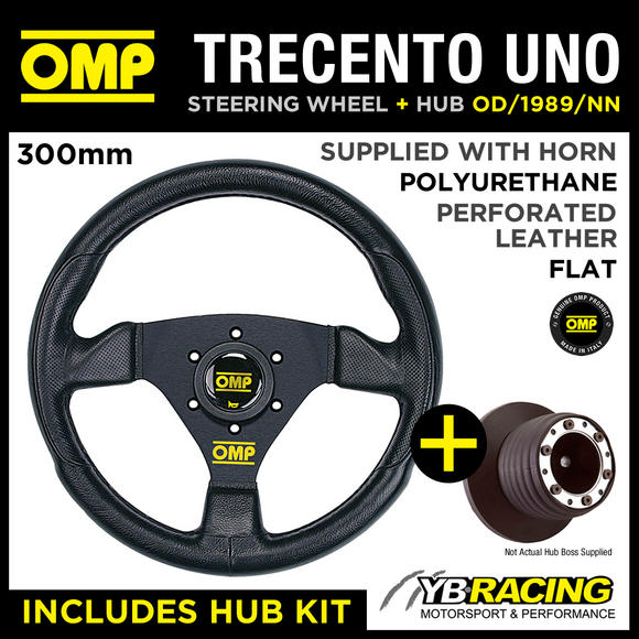 OMP TRECENTO UNO 300mm STEERING WHEEL & BOSS for CITROEN C2 VTR / VTS / GT 03-