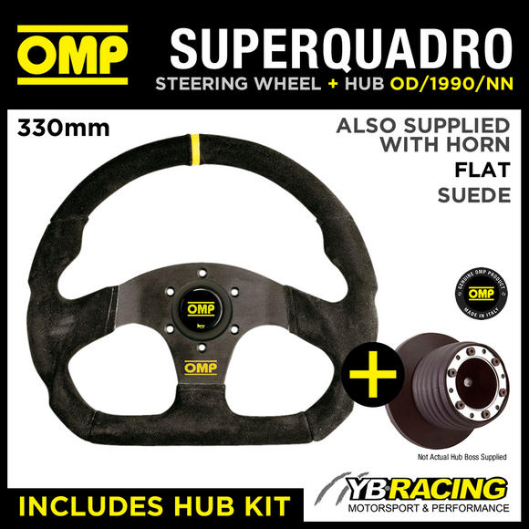 RENAULT CLIO 172 182 CUP 98-06 OMP SUPER QUADRO FLAT BOTTOM STEERING WHEEL & HUB