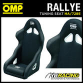 HA/728E OMP 'RALLYE' SPORTS FIXED BUCKET ROAD SEAT BLACK with OMP LEG CUSHION!